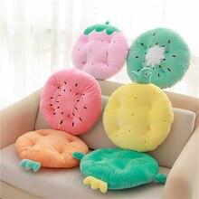 Прекрасная круглая мебель фрукты Клубника, морковь, киви Подушка офисный диван с подушкой плюшевая игрушка оконная подушка