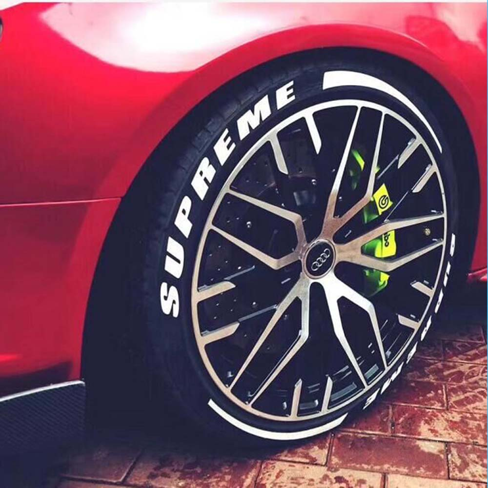 Tire Sticker- Car Tire And Wheel Sticker Lettering - Permanent Car Tuning Universal 3D Auto Rubber Tire Stickers Car Motorcycle
