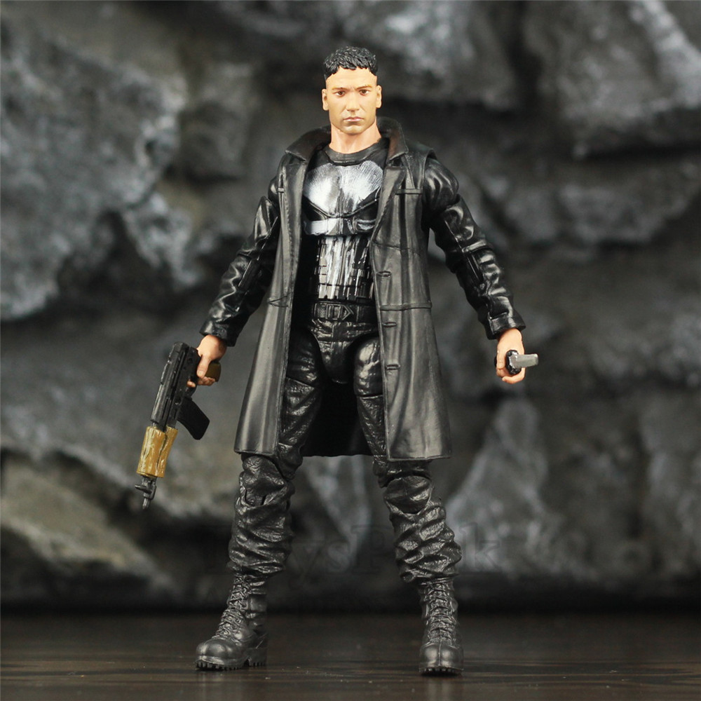 "Custom Marvel Legends Crossbones Mix Punisher Frank Castle TV 6"" Scale Action Figure Man Thing BAF Wave Body 1/12 Head Toys DollAction & Toy Figures   -"