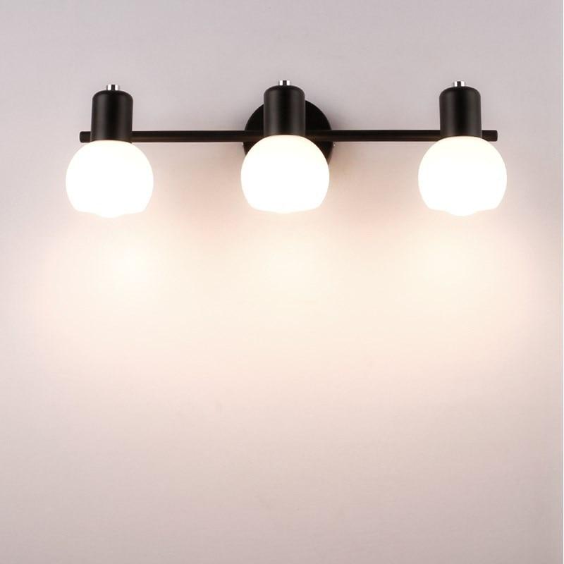 Nordic led wall light branco lâmpada de parede do banheiro para espelho do banheiro luz make-up espelho da lâmpada sala de estar luzes de parede wy42