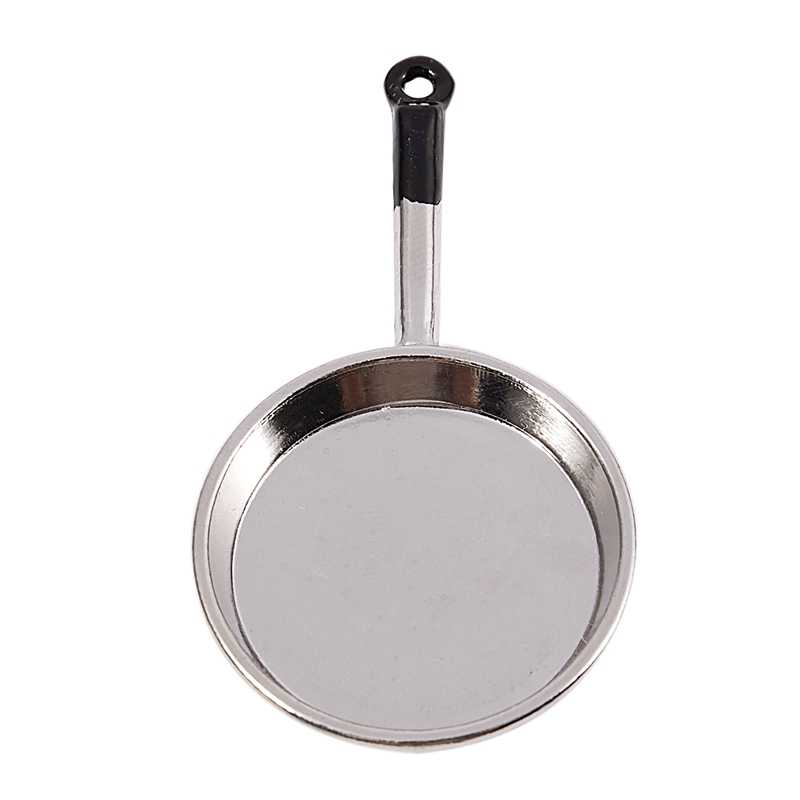 1//12 Dollhouse Miniature Silver Frying Pan Kitchen Cooking Tool Accessory/_A!