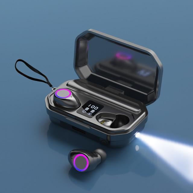 TWS Bluetooth 5.0 Earphones 3000mAh Charging Box Sports Waterproof Headphone 9D Stereo Earbuds Headsets power bank Headsets 6