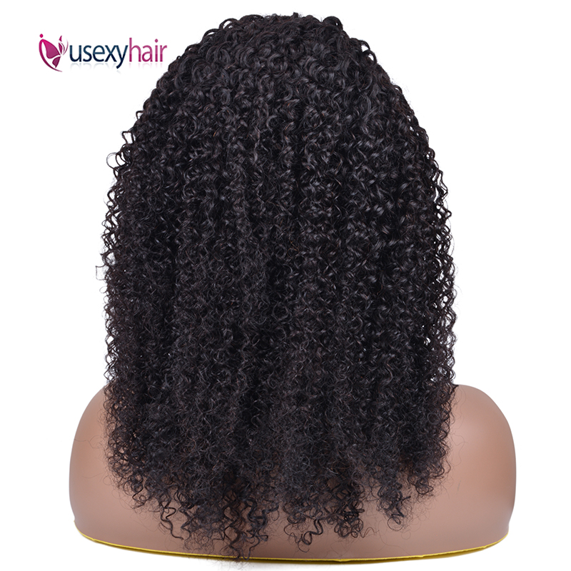 "28"" 30 Inch Afro Kinky Curly Headband Wig Brazilian Remy Curly Wigs 180 Density Usexy Full Machine Made Human Hair Wig For Women"