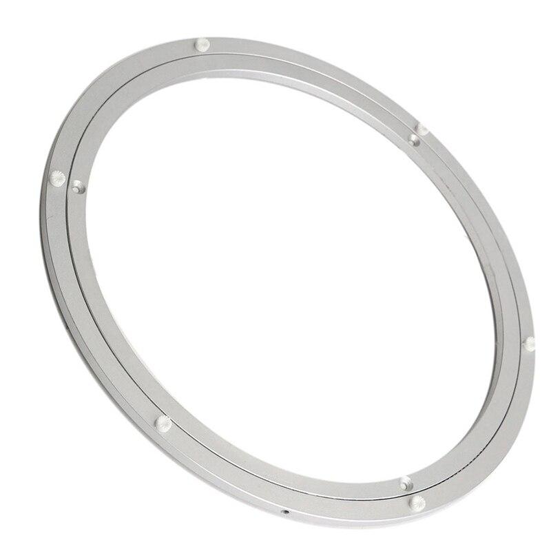 Di Alluminio di Rotazione Giradischi Cuscinetto Piastra Girevole 18 Pollici Argento