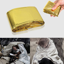 160*210 см открытый чрезвычайных одеяло выживания спасения одеяло водонепроницаемый складной теплоотражающего полиэфирная пленка тепло