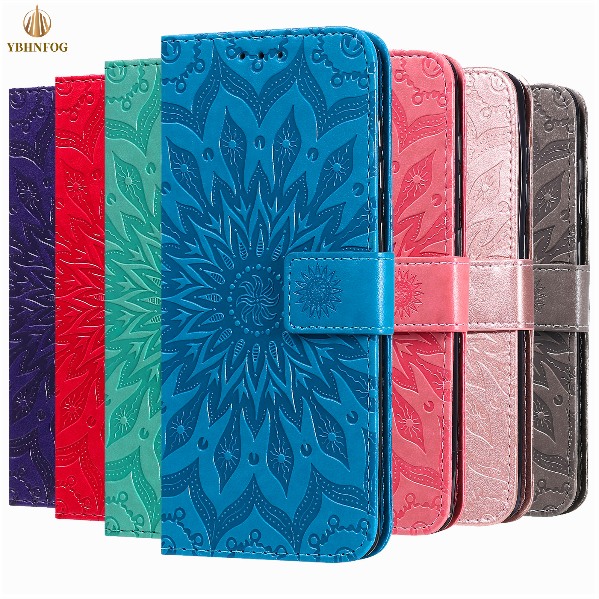 Embossing <font><b>Flip</b></font> <font><b>Leather</b></font> <font><b>Case</b></font> For <font><b>Samsung</b></font> A10 A20E A30 A40 <font><b>A50S</b></font> A70 A01 A11 A21S A31 A41 A51 A71 A81 <font><b>Wallet</b></font> Cover Holder <font><b>Stand</b></font> Bag image