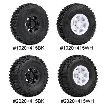 INJORA 4PCS 1.55 Beadlock Plastic Wheel Rim Tires for RC Crawler Car Axial AX90069 D90 TF2 Tamiya CC01 LC70 MST JIMNY 2