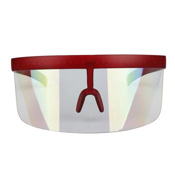 NOZAKI New Half Face Shield mask Mirror Sun Visor Large sunglasses block UV Anti-saliva Protect Guard sun hat comfortable wear