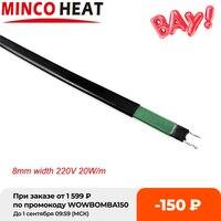 8mm de ancho 20 W/m se puede usar dentro de tuberías Cable de calefacción con protección de congelación autorregulable/Cable caliente para descongelar, derretir nieve, etc.