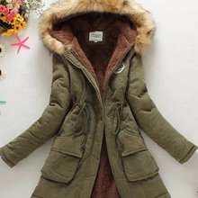 2019 Green Parkas Female Women Winter Coat Thickening Cotton Winter Jacket Womens Outwear Overcoat Lower Price Clearance sale