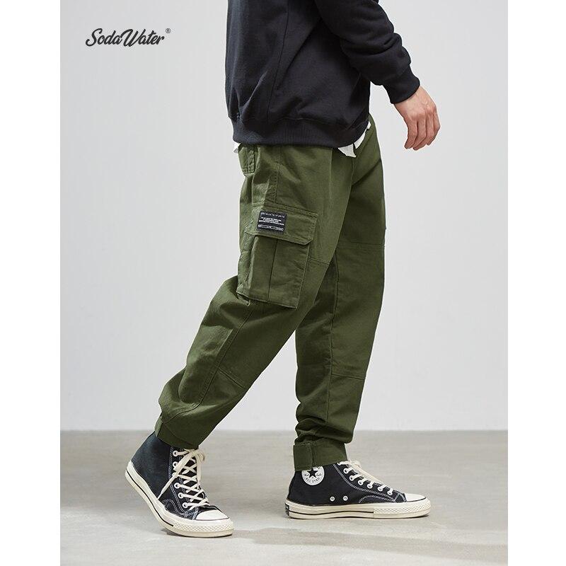 SODAWATER Men 2019 New Casual Pants High Street Men Brand Clothing Elastic Male Trousers Men Joggers Leggings Pencil Pants 8869W