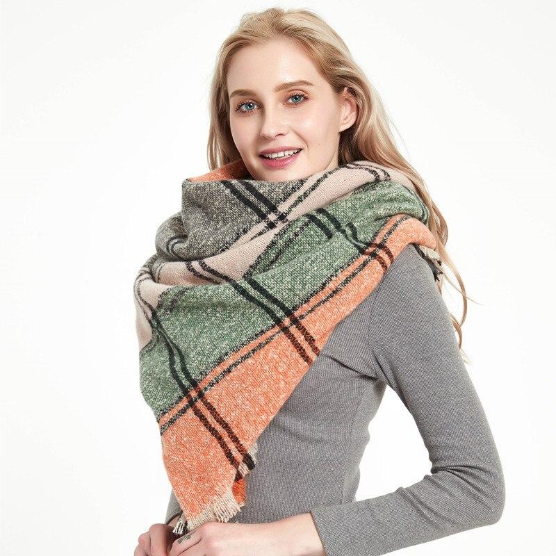 2020 Designer Women Scarf Plaid Warm Scarves Shawls Female Luxury Brand Pashmina Scarf Lady Blanket Wraps Cashmere