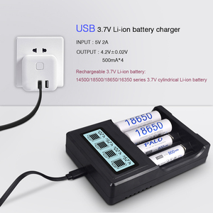 Image 2 - PALO 4 slots LCD Display 18650 batterie Ladegerät für 18650 14500 18500 16350 batterie 3,7 V serie lithium ionen batterie lade