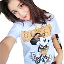 Ladies Trend New Women's White T-shirt Harajuku Print Letter T-shirt Fashion Pretty Girl Clothing Casual Female T-shirt Top