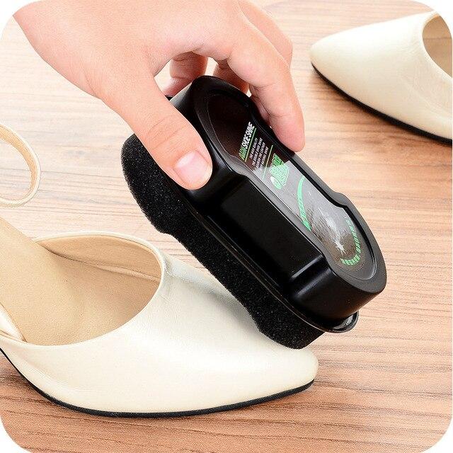 Губка с кремом для чистки обуви бесцветный обувной воск 3