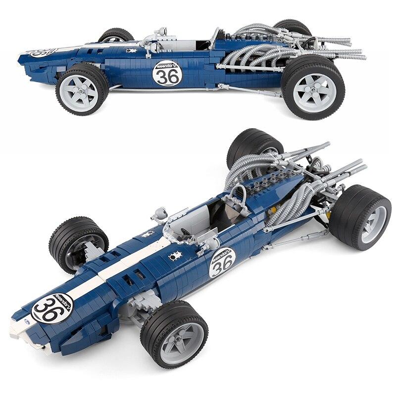 1758 pces carro de corrida blocos azul sonic aguia weslake mk1 t1g compativel technic toys technic
