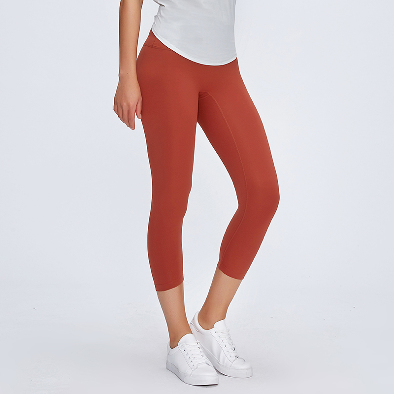 Image 2 - SHINBENE Classical 3.0Version NO CAMEL TOE Sport Fitness Capri Pants Women Naked feel Squatproof Camo Gym Yoga Cropped TightsYoga Pants   -