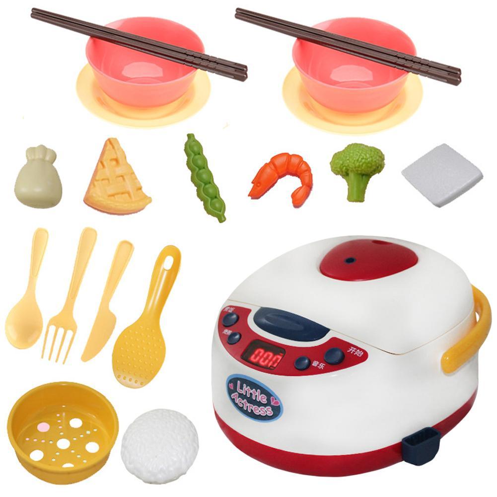19 шт./компл. похожая на настоящую электрическая плита риса Плита посуда модель ролевые игры Детские игрушки Кухня игрушка набор бытовой Приспособления игрушки для детей