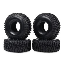 4 Pieces Super Larger 1.9 Tire With Foam For 1/10 Rc Rock Crawler Axial Scx10 90047 D90 D110 Tf2 Tamiya Cc01 Traxxas Trx-4