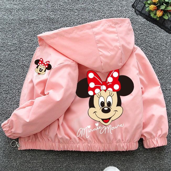 Детская одежда, детская куртка с мультяшным Минни, куртка для мальчиков и девочек на весну и осень, Детский кардиган на молнии, куртка