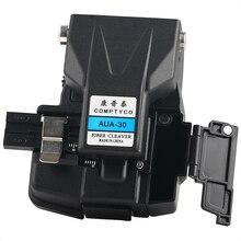 Cortador de fibra óptica de alta precisão, cortador de fibra com caixa de resíduos, mesmo AUA 30