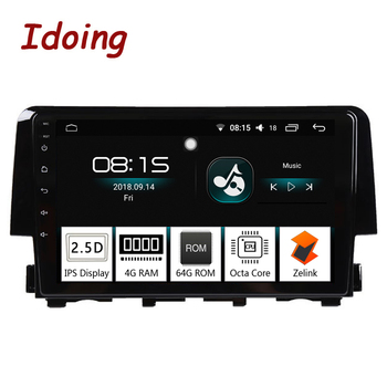 "Idoing 9""1Din Car Android 8.0 Radio Multimedia Player For Honda Civic 2015 2016 4G+64G Octa Core GPS Navigation and Glonass Wifi"