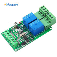 цена на Modbus-rtu 2-way Relay Module Output 2 Input Channel Switch TTL / RS485 Communication Interface 12V