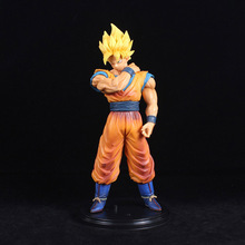 22cm Dragon Ball Z Goku Action Figure PVC Collection Model Toys Brinquedos For Christmas Gift Have The Base B789 недорого