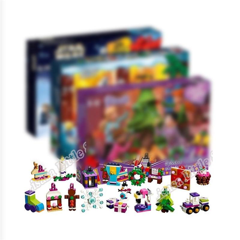 2019 New Friends Advent Calendar Girl Star Wars City Set Building Block Bricks Legoinglys Christmas Gift  With Box 41382 60235