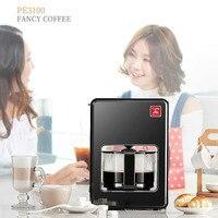 Pe3100bl 220 v máquina de café casa cheia automática americano gotejamento pequeno tudo em um máquina para fazer moedor de especiarias em pó de café|Processadores de alimentos| |  -