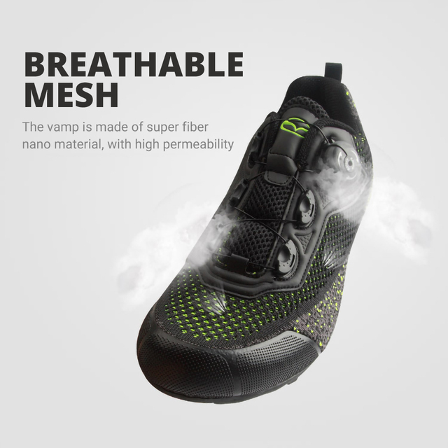 Exclusivo! Tiebao homens malha superior respirável sapatos de bicicleta de estrada não-bloqueio de borracha solas triathlon mtb sapatos de ciclismo unisex 2