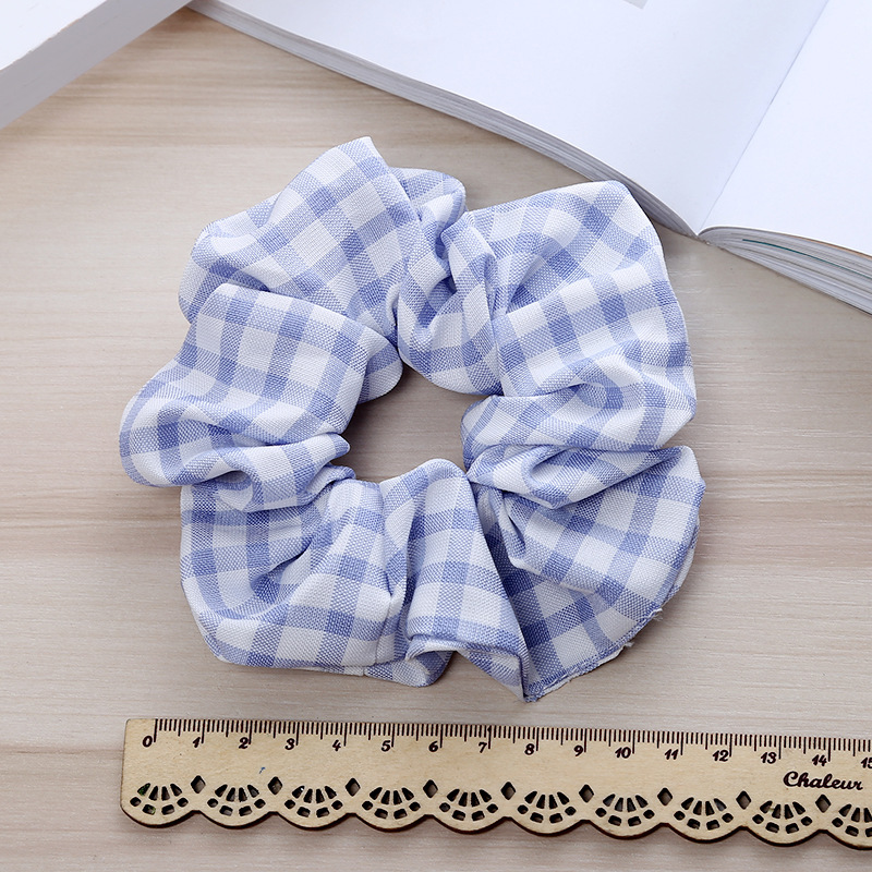 New Thousand Bird Plaid Hair Scrunchies Elastic Hair Rubber Bands Tie Hair Rope Ponytail Holder For Women Girls Hair Accessories in Women 39 s Hair Accessories from Apparel Accessories