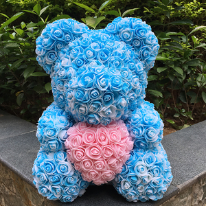 Image 4 - 40M Rose Bear With Flower Valentiness Day Gift For Wedding Decoration