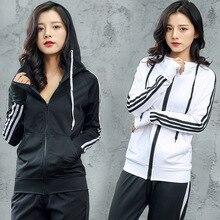 2019 Jacket women zipper cardigan fashion Korean sports jacket women outdoor fitness hooded runng