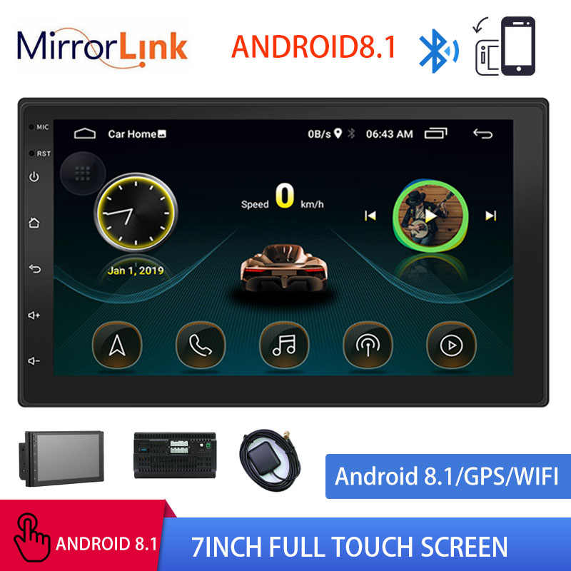 "Android 8.1 2din Mobil Radio GPS Navigasi Multimedia Player Autoradio WIFI USB FM 2 DIN 7 ""Car Audio Radio stereo Monitor Cadangan"
