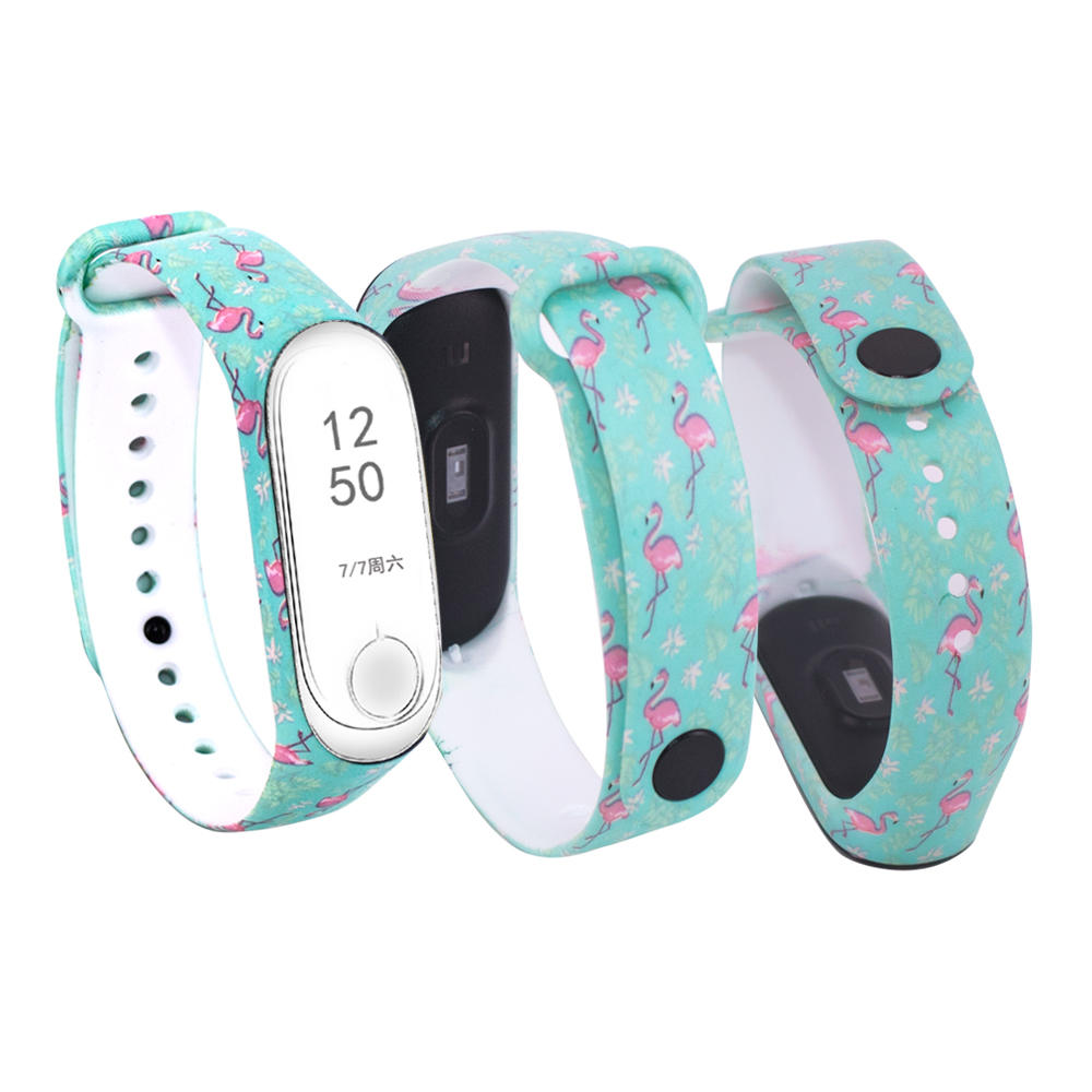 Fashion Smart Watchband For Xiaomi Band 3 Silicone Print Accessories Bracelet For Mi Band 3 Wristband For Miband 3 Strap