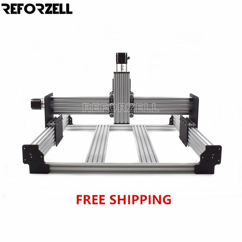 Kit de máquina enrutadora CNC de trabajo, kit mecánico de fresadora de grabado de Metal de carpintería de fresado CNC