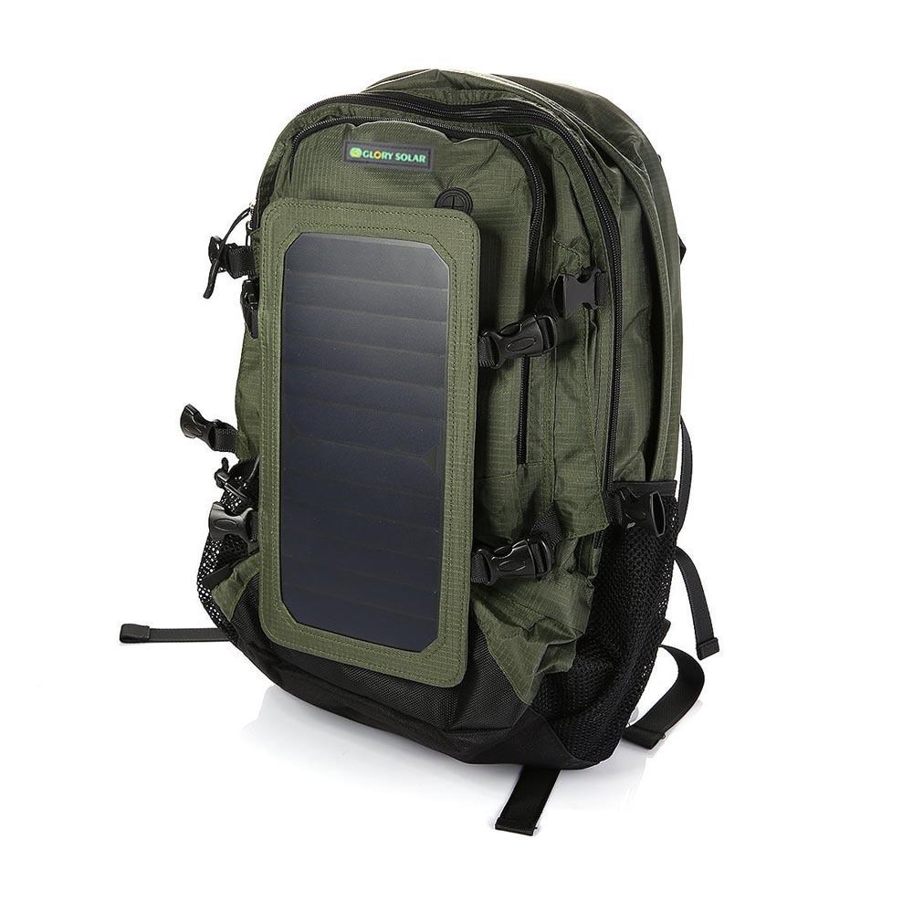 6,5 W 35L путешествия Пешие прогулки Велоспорт солнечной энергии заряда рюкзак с 2 бутылки воды сумки