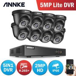ANNKE 8CH 2MP HD видео система безопасности 5MP Lite H.265 + DVR с 4X 8X Смарт ИК всепогодные Купольные Камеры видеонаблюдения CCTV комплекты