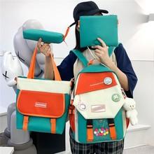 4-piece Set Schoolbag Fashion Women