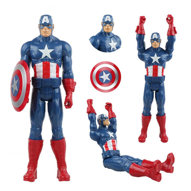 30cm marvel super heróis vingadores endgame thanos hulk capitão américa thor wolverine veneno figura de ação brinquedos boneca para o miúdo menino