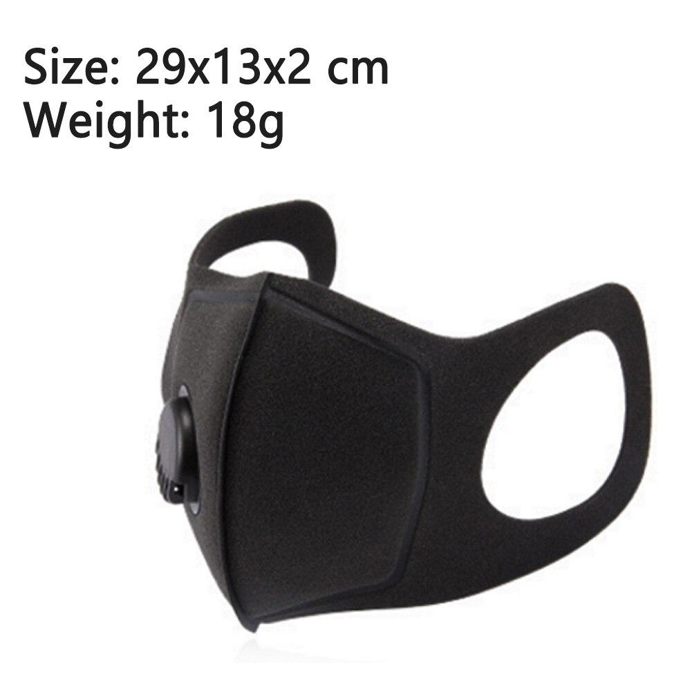 Luft Reinigende Maske Mund Muffel Carbon Corona Filter Staub Dunst Nebel Atemschutz Maske mit Ventil Atmungs Wasser-beweis Waschbar