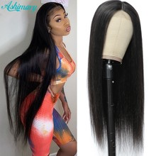 Ashimary 30 Inch Transparent Lace Wig Middle Part Lace Wigs Straight Human Hair Wigs For Women T Lace Part Wig 250 Density Lace