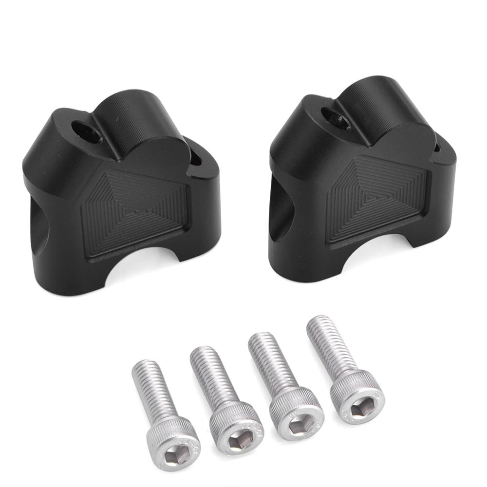 Clamp Handlebar Riser 35mm Up 12mm Back For SUZUKI DL250 GW250F//S DL650 Silver