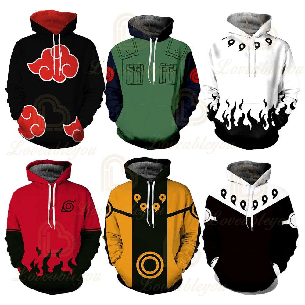 Hot Sale Anime Naruto 3D Printed Hoodies Women/Men Long Sleeve Casual Hooded Streetwear Clothes Customs