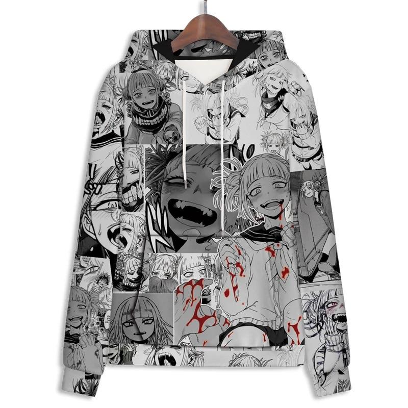 Boku No Hero Academia Hoodie Himiko Toga Cosplay Costume Casual Pullover Sweatshirt