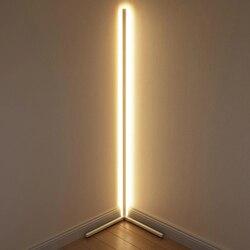 Nordic moderno rgb coloful conduziu a lâmpada de assoalho canto remoto conduziu a luz do assoalho atmosfera lâmpada para sala estar quarto foyer barra casa
