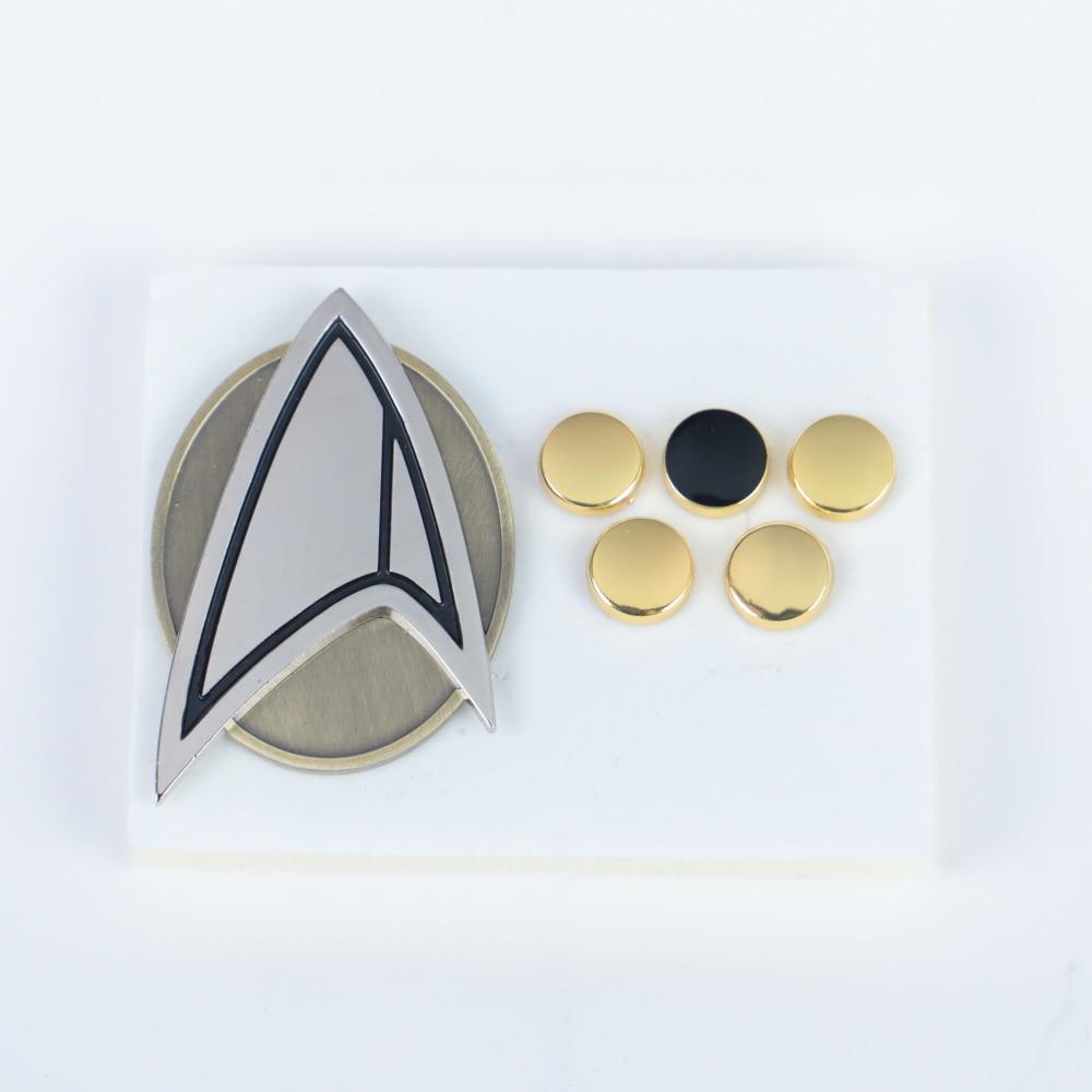 6pcs/set  Star Picard Combadge Rank Pips Brooch Trek Command Science Engineering Pin Badge Accessories Badges