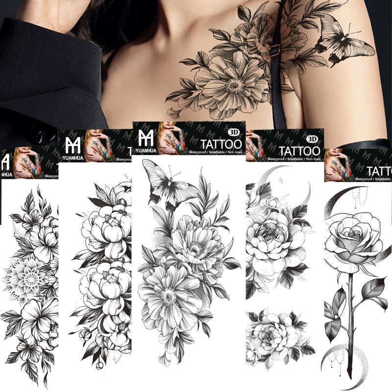 Sticker Arm-Sleeve Temporary-Tattoos Art-Body Fake Cool Sexy Waterproof Women Fashion