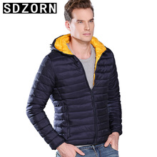 Mens Hooded Jacket Plain Padded Parka Simple Warm Coat for Men 2019 New Fall Winter Bottoming Outwear